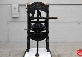 """a photo of Ostrander Seymour Extra Heavy """"Washington"""" Style Letterpress - Approx 200 Years Old"""