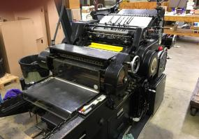 "a photo of 1970 Heidelberg KSBA Cylinder 18"" x 23"" with Inker - Gardena, CA"