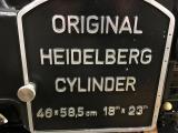 """1970 Heidelberg KSBA Cylinder 18"""" x 23"""" with Inker - Gardena, CA"""