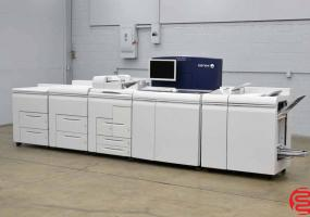 Xerox Nuvera 100 EA Production System Monochrome Digital Press with Standard Sheet-feed Module with Integrated Onboard Scanner, Two High Capacity Sheet-feed Modules and Multifunction Finisher Pro-Plus