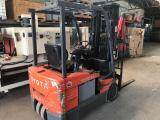 a photo of Toyota Electric Forklift with Charger Model 7FBEU15 - Click for Video!