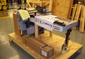 a photo of Heidelberg Ludwigsburg / Stahl T52 Fold Unit with 2 Combination Fold Plates with Micro Adjustments, New Extra Grip Fold Rollers, 3rd Station, DCT500 Controls - Sidney, OH
