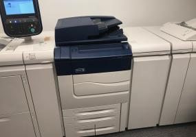 a photo of Xerox C70 Printer with Multifunction Features, Bookletmaker, Cover Inserter, Decurcler Unit - Dallas, TX