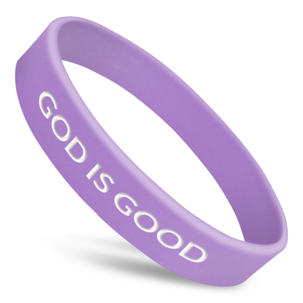 god is good custom rubber wristband