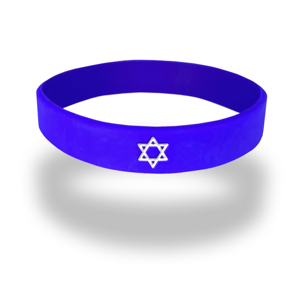 star of david rubber wristband