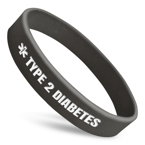 Type 2 Diabetes Alert Wristband With Medical Symbol