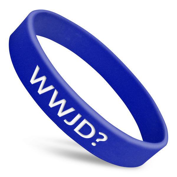 what would jesus do wwjd rubber wristband