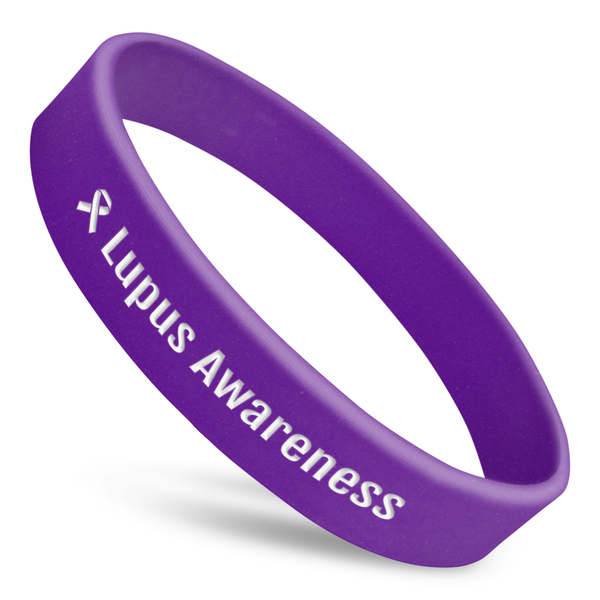 Lupus Awareness Wristband With Ribbon