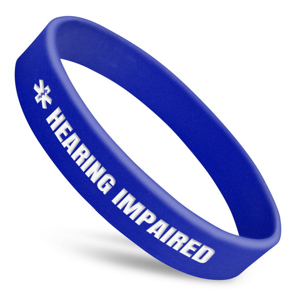 Hearing Impaired Alert Wristband With Medical Symbol