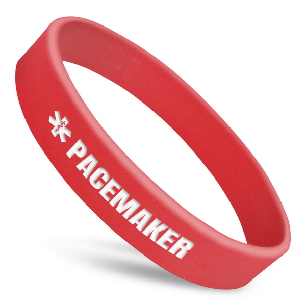 Pacemaker Alert Wristband With Medical Symbol