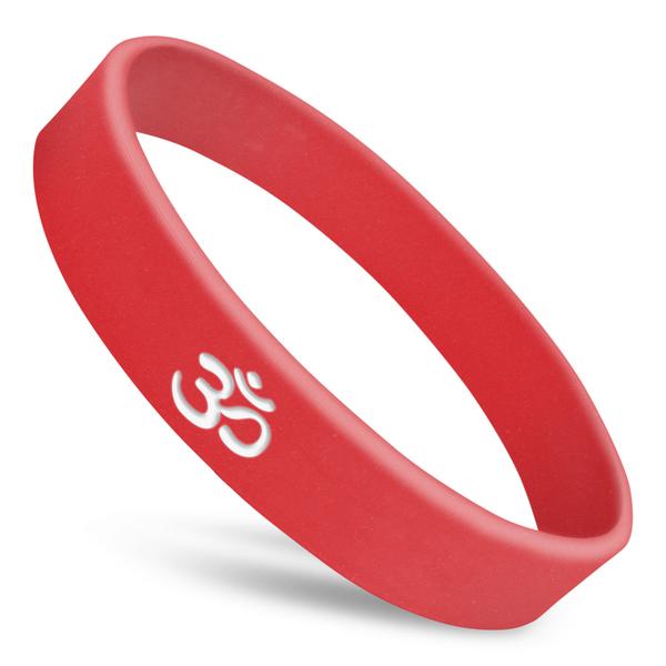 om Hindu rubber wristband