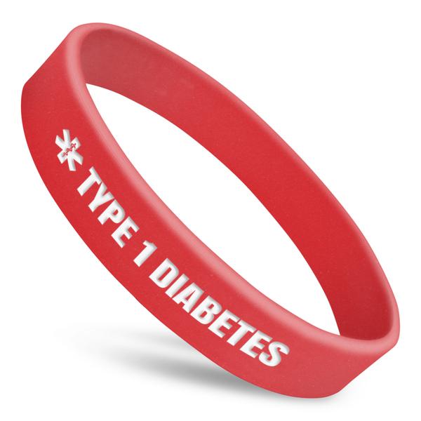 Type 1 Diabetes Alert Wristband With Medical Symbol