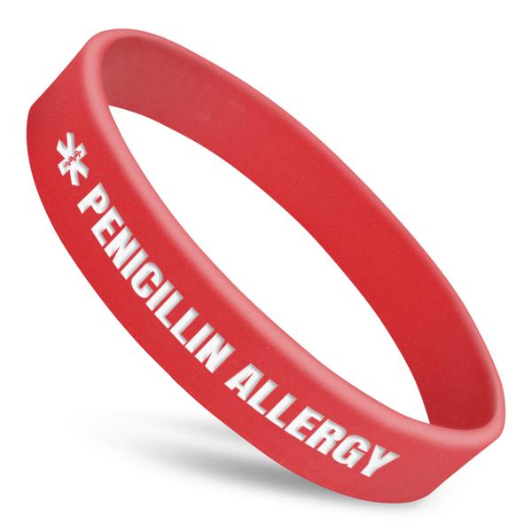 Penicillin Allergy Alert Wristband With Medical Symbol