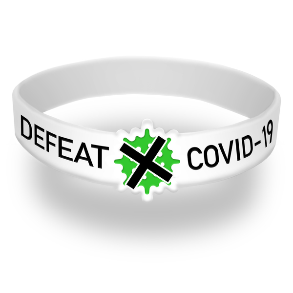 Defeat COVID-19 Die Cut Wristband