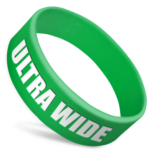 Ultra Wide Silicone Wristbands