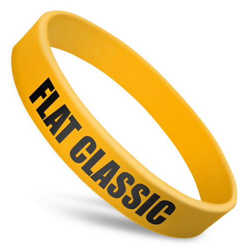 Flat Classic Silicone Wristbands