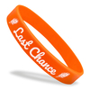 orange last chance flat classic wristband with white text