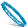 blue ultra thin wristband with white ink fill