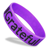 purple wide wristband with black ink fill