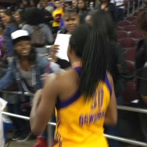 14709467_1801617676742413_6793526595886776320_n.jpg (The MVP, @nnemkadi showing love to her home crowd after going off for 21-9 in a …)