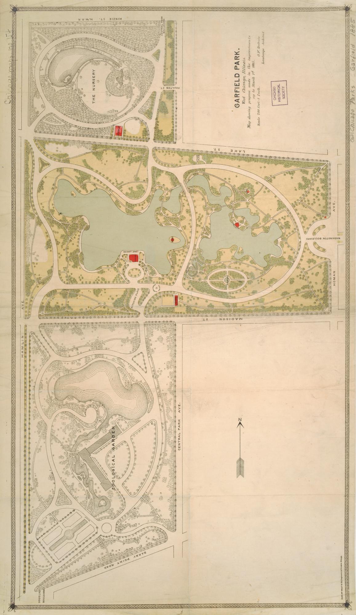 Garfield Park Chicago Map.Garfield Park Map 1885