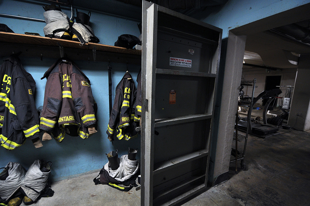 Basement of Chicago Fire Department Engine 15, 8028 S. Kedzie Ave. (WBEZ/Chris Bentley)