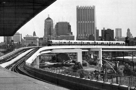Chinatown connector to new Dan Ryan Line, 1970 (CTA photo)