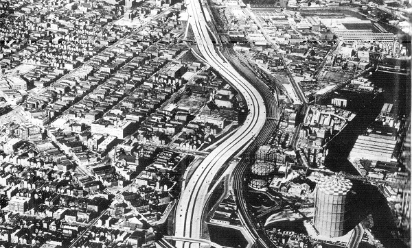 Northwest Expressway at Division, 1961 (City of Chicago)
