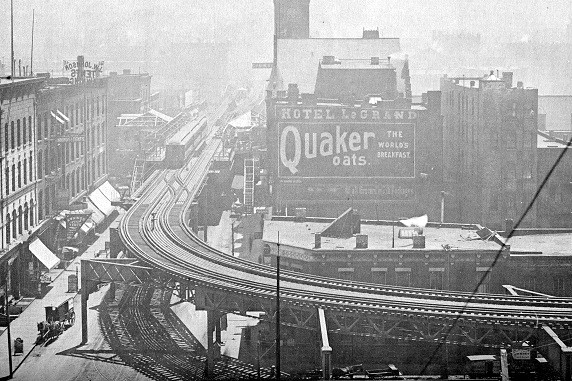 Before the Mart: The 'L' at Wells-Kinzie, 1900 (CTA photo)