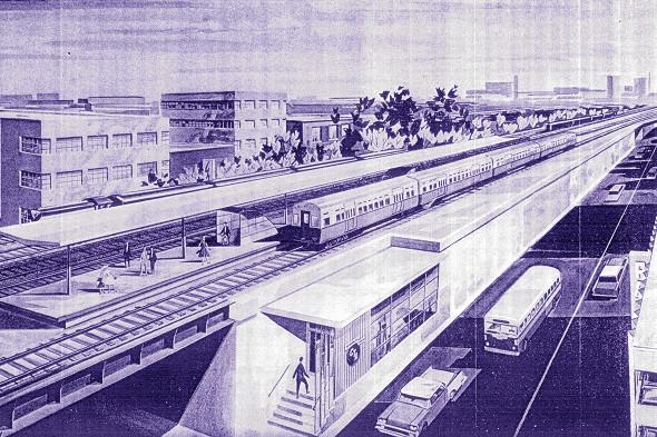 Lake Street Track Elevation ('New Horizons')