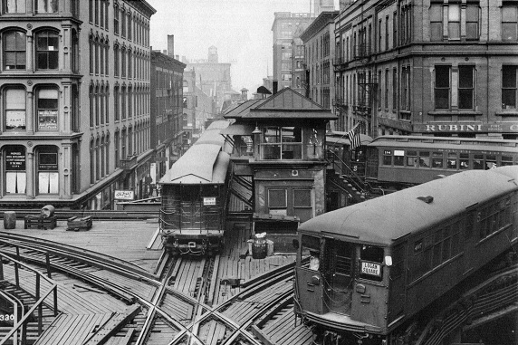 Lake-Wells junction, 1920s (CTA photo)