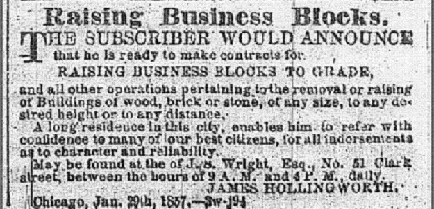 'Chicago Tribune'--January 29, 1857