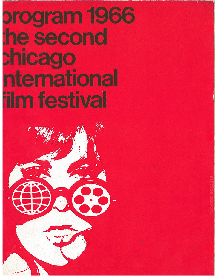 The Chicago International Film Festival Program, 1966. A sexier version. Click to enlarge. (Image courtesy of Michael Kutza)