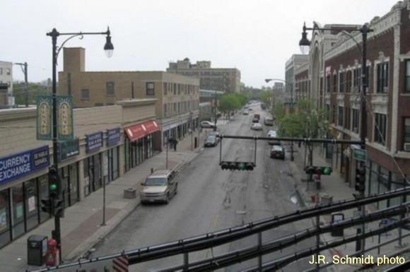 Howard Street at Paulina Street--view east