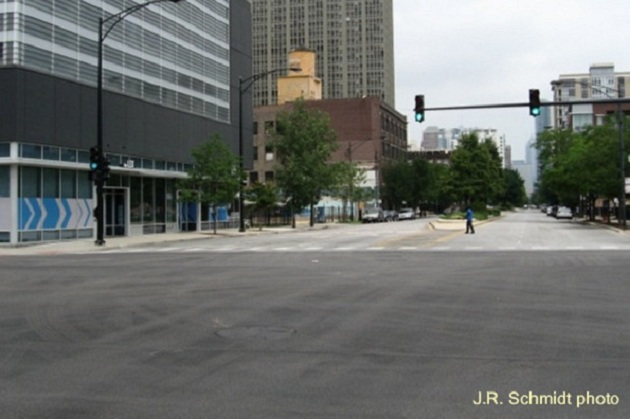 Indiana Avenue at Cermak--view north