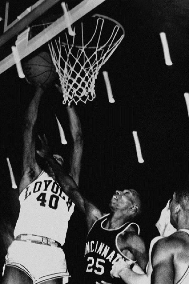 Vic Rouse hits the game-winner (courtesy Loyola University Chicago)
