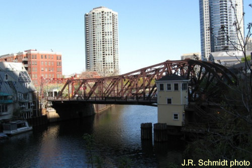 Where it started--Kinzie Street Bridge