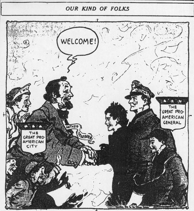 One view of MacArthur's visit ('Chicago Tribune'--April 26, 1951)