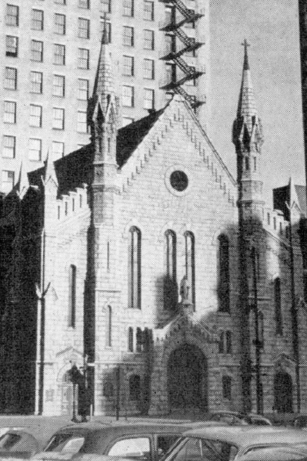 The old Old St. Mary's, 1955 (author's collection)