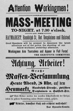 Handbill advertising the Haymarket rally (Library of Congress)