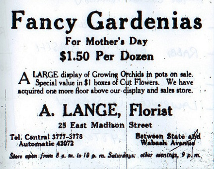 1912 newspaper ad (Chicago Daily News)