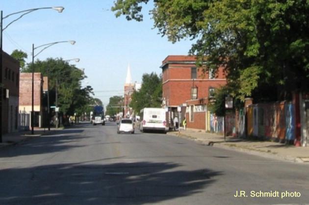 51st Street at Bishop--view west
