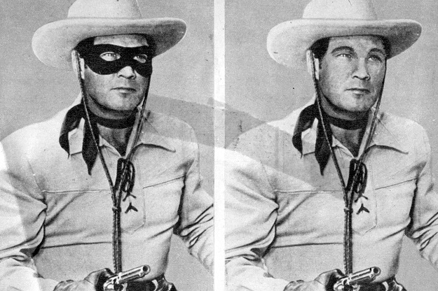 Clayton Moore as the Lone Ranger--pre-digital imagining (author's collection)