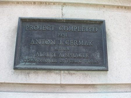 Closeup of the bottom plaque--'Hey! I was mayor, too!'