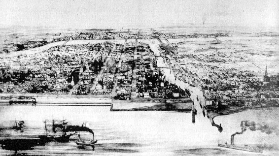 Chicago, circa 1850 (Andreas, 'History of Chicago')