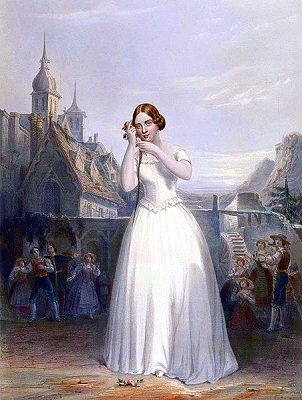 Jenny Lind in 'La Sonnambula'--she stayed in New York (Wikipedia)