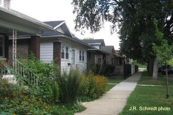 California-style bungalows on Mayfield Avenue