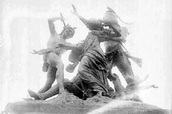 Detail of the rescue (Library of Congress/Chicago Daily News)