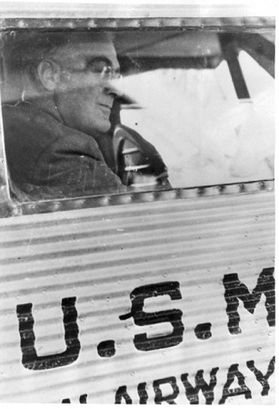 Nominee Roosevelt on his way to Chicago (Courtesy Roosevelt Presidential Library)