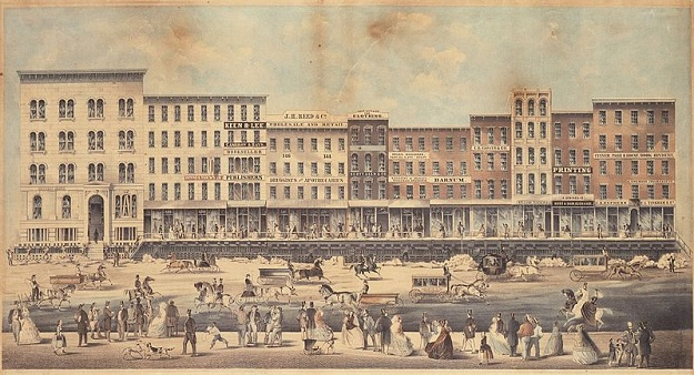 Raising Lake Street, 1860 (Wikipedia)